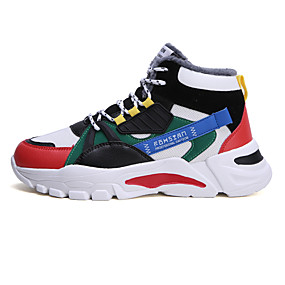 cheap Shoes & Bags-Men's Snow Boots Mesh Winter Casual Sneakers Black / Green / Gray
