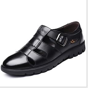 cheap Men's Clogs & Mules-Men's Comfort Shoes PU Winter Clogs & Mules Black / Brown