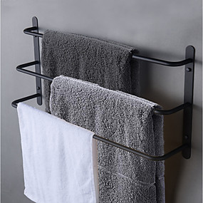 cheap Bath Accessories-Bath Towel Bar Racks / Bathroom Shelf Multilayer / New Design / Cool Contemporary / Antique Stainless Steel 1pc - Bathroom / Hotel bath 3-towel bar Wall Mounted