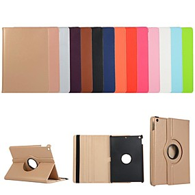 cheap iPad case-Case For Apple iPad Air / iPad 4/3/2 / iPad Mini 3/2/1 360° Rotation / Shockproof / with Stand Full Body Cases Solid Colored PU Leather