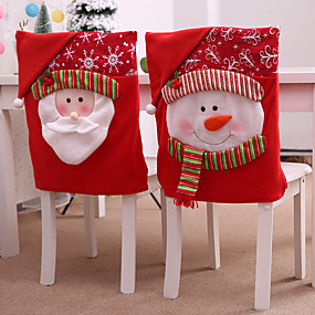 رخيصةأون ضيافة الزفاف-وشاح الكرسي قماش 1 قطعة عيد الميلاد