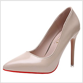 cheap Shoes & Bags-Women's Heels Stiletto Heel Pointed Toe Rubber / PU Spring &  Fall Black / Almond / Dusty Rose