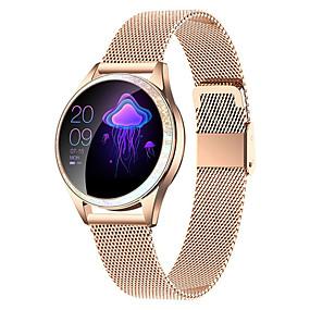olcso Újdonságok-kw20 smartwatch rozsdamentes acél bt fitness tracker támogatás értesítés / pulzusmérő sport vízálló intelligens óra samsung / iphone / android telefonokhoz