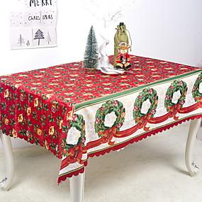 preiswerte Partydekoration-Klassisch Polyesterfaser Quadratisch Tischdecken Geometrisch Tischdekorationen 1 pcs