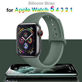 cheap Smartwatch Bands-Strap For Apple Watch Band 38mm 42mm iWatch 5 44mm 40mm Sport Silicone Bracelet Correa Apple watch 5 4 3 2 1