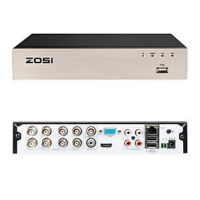 preiswerte DVRs & DVR Karten-zosi cvbs ahd tvi cvi 4-in-1 8 kanal h.265 720p hd dvr echtzeit audio recorder mit fernbedienung