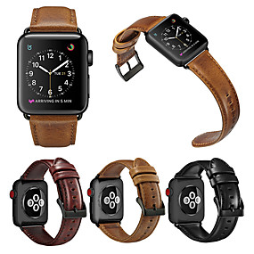 cheap Smartwatch Bands-Luxury Leather Watch Band For Apple Watch Series 6 SE 5 4 3 2 1  Replaceable Bracelet Wrist Strap Wristband