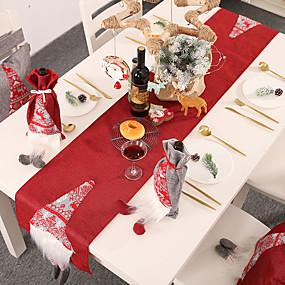رخيصةأون ضيافة الزفاف-قماش الطاولة قماش 1 قطعة عيد الميلاد