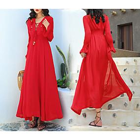 preiswerte Damenbekleidung-Damen Grundlegend Etuikleid Kleid - Quaste Maxi