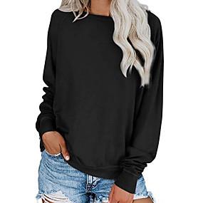 preiswerte Damenbekleidung-Damen Solide T-shirt Schwarz