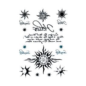 preiswerte Temporäre Tattoos-3 Stück temporäre Tattoos wasserfest / Einweg Gesicht / Körper Wassertransfer Sticker Tattoo Sticker