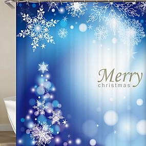 preiswerte Duschvorhänge-Duschvorhänge Modern Polyester Christma Dekoration