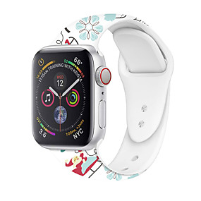 cheap Smartwatch Accessories-Christmas Silicone Band For Apple Watch 44mm/40mm/38mm/42mm Printing Replaceable Strap For iwatch Series 5 4 3 2 1 Watchbands