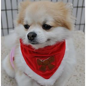 preiswerte Haus & Garten-Hunde Hundeschal Winter Hundekleidung Rot Kostüm Polyester Schneeflocke Sterne Cosplay Weihnachten XS S