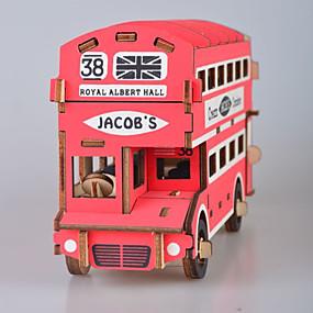 preiswerte Modelle & Modell Kits-3D - Puzzle Holzpuzzle Modellbausätze Mode Haus Bus Neues Design Heimwerken 1 pcs Klassisch Modisch Kinder Erwachsene Jungen Mädchen Spielzeuge Geschenk / Holzmodelle