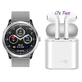 cheap New Arrivals-N58 Smartwatch Stainless Steel BT Fitness Tracker Support ECG PPG HRV/ Report Heart Rate Blood Pressure with Free Wireless TWS Headphone