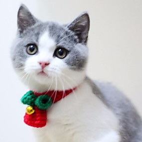 preiswerte Haus & Garten-Hunde Halsbänder Winter Hundekleidung Rot Kostüm Polyester Trompetenärmel Cosplay Weihnachten XS S M L