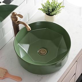 povoljno Samostojeći umivaonici-Kupaonica Sudoper Suvremena - Staklo Krug Vessel Sink