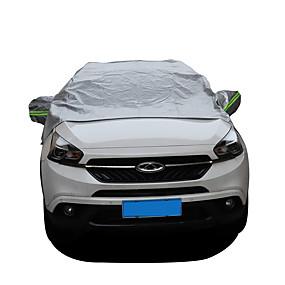 levne Přehozy na auta-čelní sklo sněhová pokrývka se zrcadlem kryty anti-uv vodotěsné proti slunečnímu teplu větrný prach přední sluneční clona univerzální auto čelní sklo kryt chránící kryt chrániče padne většině