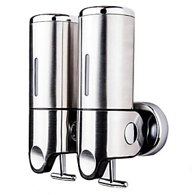 cheap Soap Dispensers-Wall Mounted Hand Sanitizer Machine Soap Dispenser Press Stainless steel High Volume 1000ml Building Entrance Necessary