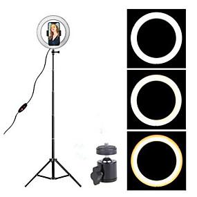 preiswerte Beleuchtung, Studio und Zubehör-16cm led ringlicht fotostudio kamera licht fotografie dimmbares videolicht für youtube make-up selfie mit stativ handyhalter