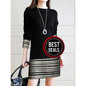 preiswerte Damen Kleider-Damen Elegant Hülle Kleid - Spitze, Geometrisch Übers Knie