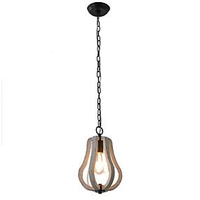 povoljno Viseća rasvjeta-Ecolight™ Svijeća stilu / Bubanj / Fenjer Privjesak Svjetla Ambient Light Slikano završi Wood / Bamboo Wood / Bamboo Mini Style, svijeća Style 110-120V / 220-240V