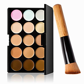 preiswerte Makeup Brush Sets-15 Farben Concealer Cream Concealer / Kontur 1 pcs Trocken / Nass / Matt Wasserdicht / Atmungsaktiv / Weiß machen Korpus / Gesicht Bilden Kosmetikum