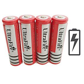 preiswerte UEFA Champions League-UltraFire BRC Li-Ionen 18650 Batterie 4200 mAh 4pcs 3.7 V Wiederaufladbar für Taschenlampe Fahrradlicht Scheinwerfer Jagd Klettern Camping / Wandern / Erkundungen