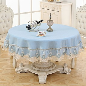 cheap Table Linens-Casual polyester fibre Round Table Cloth Table Decorations 180*180 pcs
