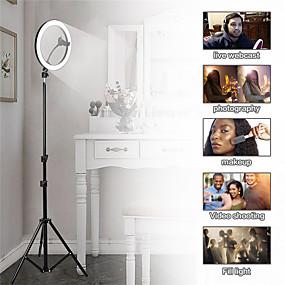 preiswerte Beleuchtung, Studio und Zubehör-Fotografie führte Selbstauslöser Ringlicht 30cm Metall dimmbar Fotografie / Handy Ringlicht mit 110 / 160cm Stativ für Make-up-Videostudio