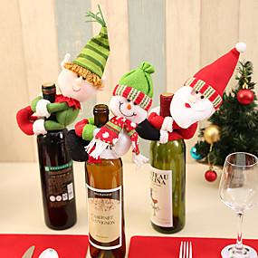 baratos Lembrancinhas & Presentes para Festas-Tampa da garrafa de vinho Tecido 1 Peça Natal