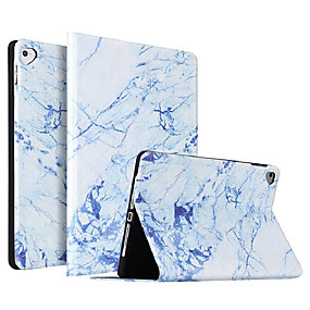 cheap iPad case-Case For Apple iPad Air / iPad 4/3/2 / iPad Mini 3/2/1 Shockproof / Dustproof / Ultra-thin Full Body Cases Marble PU Leather / TPU