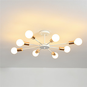 cheap Ceiling Lights & Fans-OYLYW 8-Light Linear Flush Mount Lights Ambient Light Electroplated Painted Finishes Metal New Design 110-120V / 220-240V