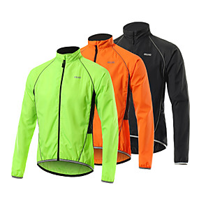 cheap Running & Jogging-Arsuxeo Men's Long Sleeve Windbreaker Rain Jacket Running Skin Jacket Full Zip Outerwear Coat Top Athletic Winter Spandex Windproof Quick Dry Lightweight Fitness Hiking Running Active Training Cycling