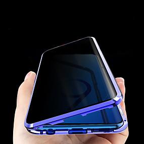 رخيصةأون إكسسوارات سامسونج-جراب مغناطيسي زجاجي مضاد للتجسس للخصوصية لهاتف Samsung galaxys20 plus / s20 ultra plus s9 / plus s10 / plus جراب معدني مغناطيسي من الزجاج المقوى على الوجهين