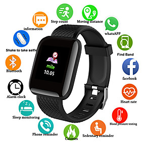 cheap Smart Watches-Smartwatch Digital Modern Style Sporty PU Leather 30 m Water Resistant / Waterproof Heart Rate Monitor Bluetooth Digital Casual Outdoor - Black Purple Green