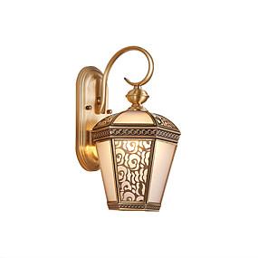 preiswerte Außenwandlichter-Lightinthebox Wasserfest Traditionell-Klassisch / Landhaus Stil Wandleuchten im Freien Draußen / Shops / Cafés Kupfer Wandleuchte 220-240V