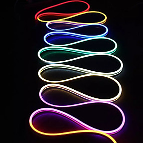 cheap Neon LED Lights-10m Flexible LED Light Strips 1200 LEDs 1 set White Red Blue Creative TV Background Neon Electroluminescent Wire 85-265 V