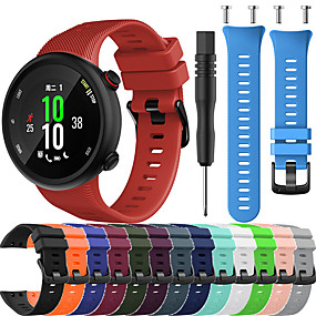 cheap Smartwatch Bands-Watch Band for Garmin forerunner 45 / forerunner 45S Garmin Sport Band / Modern Buckle / DIY Tools Silicone Wrist Strap