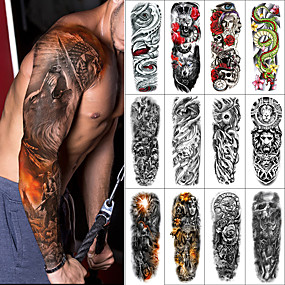 cheap Tattoo Stickers-1 pcs Temporary Tattoos Water Resistant / Waterproof / Safety / Creative Face / Body / Hand Water-Transfer Sticker Body Painting Colors