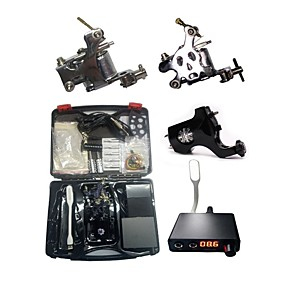 cheap Professional Tattoo Kits-BaseKey Professional Tattoo Kit Tattoo Machine - 3 pcs Tattoo Machines, Professional Aluminum Alloy 19 W 2 steel machine liner & shader / 1 rotary machine liner & shader / Case Included