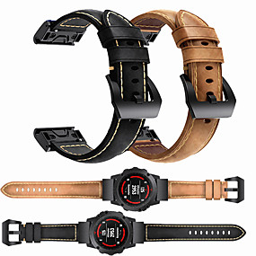 cheap Smartwatch Bands-Luxury Leather Watch Band For Garmin Fenix 6 Pro / Fenix 5 Plus / Approach S60 / Forerunner 935 / Quatix5 Sapphire Quick Release Easy fit Bracelet Wrist Strap Wristband