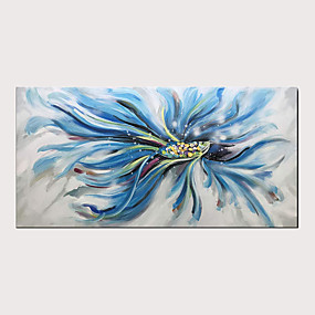 cheap Wall Art New Arrivals-Oil Painting Hand Painted - Abstract Animals Modern Stretched Canvas