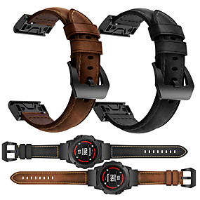 cheap Smartwatch Bands-Smartwatch Band for Fenix 5x / 5X Plus / 3/ 3HR / Fenix 6X / 6XPro / D2/ MK1 Garmin High-end Leather Loop Genuine Leather Band QuickFit Wrist Strap 26mm
