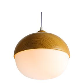 preiswerte Pendelleuchten-ZHISHU Kugel Pendelleuchten Raumbeleuchtung Lackierte Oberflächen Holz / Bambus Acryl LED 110-120V / 220-240V Wärm Weiß / Weiß / Wi-Fi Smart