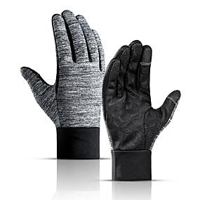 preiswerte Laufen-Laufsport Handschuhe / Winterhandschuhe Vollfinger Herrn / Damen warm halten / Touchscreen / Wasserdicht Laufen / Wandern / Fahrradlichter Baumwolle / Polyester / Rutschfest