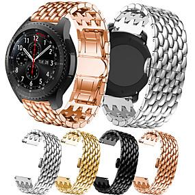 levne Smartwatch Bands-luxusní pásek na hodinky z nerezové oceli pro hodinky Galaxy Samsung 46mm / převodovka s3 klasické / hraniční vyměnitelný náramek na zápěstí popruh na zápěstí