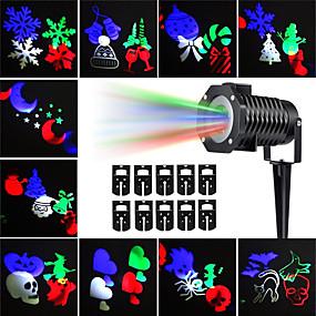 preiswerte Scheinwerfer-kwb 10pcs Halloween-Weihnachtsrasen beleuchtet wasserdichte / kreative / Projektorlichtmehrfarbige im Freienbeleuchtung 10 geführte Korne