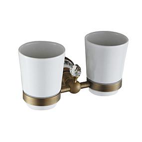 preiswerte Zahnbürstenhalter-doppelter zahnbürstenhalter multifunktions antike keramik / messing 1 stück - bad an der wand montiert